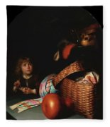 Still Life With A Boy Blowing Soap Bubbles 1636 Fleece Blanket