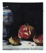 Still Life With A Pomegranate Fleece Blanket
