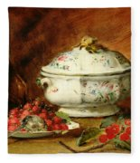 Still Life With A Soup Tureen Fleece Blanket