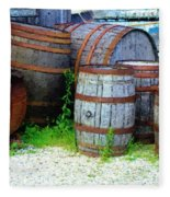 Still Life With Barrels Fleece Blanket
