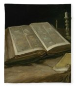Still Life With Bible Nuenen, October 1885 Vincent Van Gogh 1853  1890 Fleece Blanket