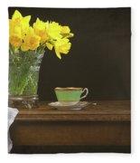 Still Life With Daffodils Fleece Blanket
