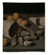 Still Life With Dried Fruit Fleece Blanket