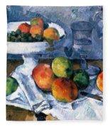 Still Life With Fruit Dish Fleece Blanket