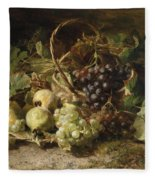 Still-life With Grapes And Pears Fleece Blanket