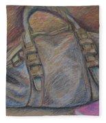 Still Life With Handbag And Notepad Fleece Blanket