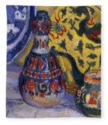 Still Life With Oriental Figures, 1913  Fleece Blanket