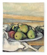 Still Life With Pears Fleece Blanket