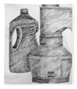 Still Life With Popcorn Maker And Laundry Soap Bottle Fleece Blanket