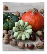 Still Life With Products Of Autumn Fleece Blanket