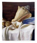 Still Life With Shells Fleece Blanket