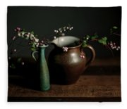 Still Life With Stoneware  Fleece Blanket