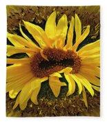 Still Life With Sunflower Fleece Blanket