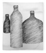 Still Life With Three Bottles Fleece Blanket
