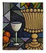 Still Life With Vase Fleece Blanket