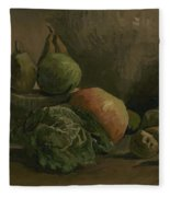 Still Life With Vegetables And Fruit Nuenen, Autumn 1884 Vincent Van Gogh 1853  1890 Fleece Blanket