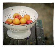 Still Life With Yellow Plums  Fleece Blanket