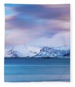 Still Mountains Fleece Blanket