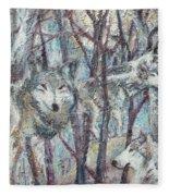 Still Of The Night Fleece Blanket