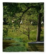 Stillness Of Spring Fleece Blanket