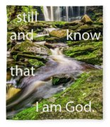 Stillness Speaks Fleece Blanket