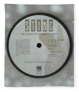 Sting Dream Of The Blue Turtles Lp Label Fleece Blanket