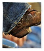 Stock Show Boots I Fleece Blanket