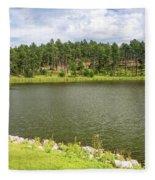 Stockade Lake In Custer State Park Fleece Blanket