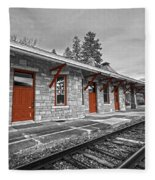 Stockbridge Train Station Fleece Blanket