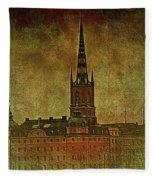 Stockholm Painting V Fleece Blanket