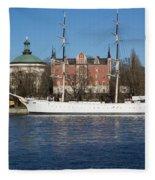 Stockholm Ship Fleece Blanket
