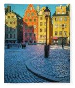 Stockholm Stortorget Square Fleece Blanket