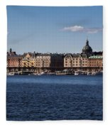 Stockholm Waterscape Fleece Blanket