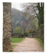 Stone Building Wall And Fence Fleece Blanket