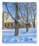 Stone Church At Cragsmoor Fleece Blanket