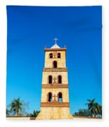 Stone Church Bell Tower Fleece Blanket
