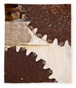 Stone Eater In Lime Stone Quarry - Lithica Fleece Blanket