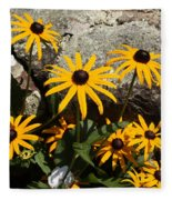 Stone Flowers Black Eyed Susan Fleece Blanket