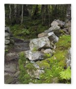 Stone Gate - Edmands Path - White Mountains New Hampshire  Fleece Blanket