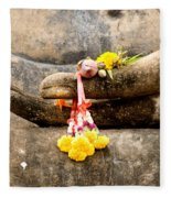 Stone Hand Of Buddha Fleece Blanket
