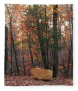 Stone Leaves And Trees Fleece Blanket