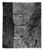 Stone Mason Scars Monochrome Fleece Blanket