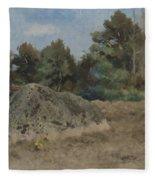 Stone Of The Field Fleece Blanket