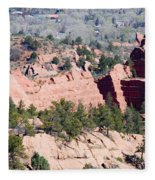 Stone Quarry In Red Rock Canyon Open Space Park Fleece Blanket