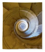 Stone Spiral Fleece Blanket