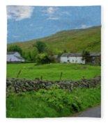 Stone Wall Lake District - P4a16012 Fleece Blanket