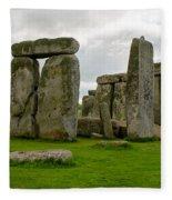 Stonehenge England Fleece Blanket