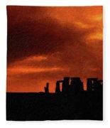 Stonehenge Impasto 2 Fleece Blanket