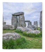 Stonehenge In England Fleece Blanket