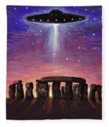 Stonehenge Ufo Fleece Blanket